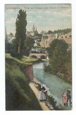 Vintage foreign postcard Luxembourg Partie de l'Alzette entre Grund et Clausen