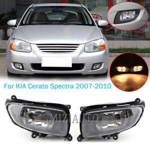 PAIR Fog Light Lamp w/Bulbs For KIA Cerato Spectra Sedan 2007 2008 2009 2010 L&R