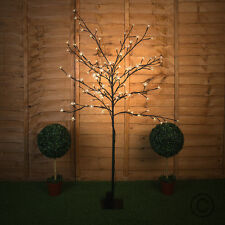 Large 1.5m Battery Powered LED Garden Cherry Blossom Floor Lamp Garden Light