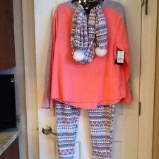 d5e13108512 Cuddl Duds Plus Women's 3 piece Stretch Fleece Pajama Set with Scarf XXL 2X