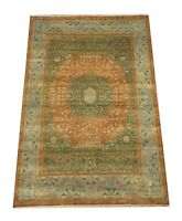 """9X12 Egyptian Mamluk Rug Hand-Knotted Wool Contemporary Carpet (8'11"""" x 11'11"""")"""