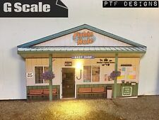 "G Scale Scratch Built ""BAIT SHOP"" Fishing Building Flat LED 1/24 1/32"