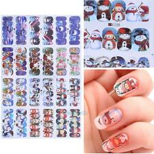 2017 120pcs Beauty Christmas Water Transfer Nail Art Decoration Stickers Decal