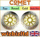 Comet Pair Gold Round Front Brake Disc Honda VFR 400 (NC30) 1989-1992 R916GD2