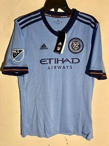 Adidas Youth MLS Jersey New York City FC Team Light Blue sz XL