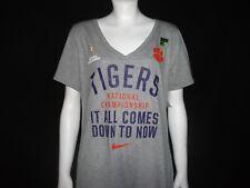 Nike Clemson Tigers CFP Ladies V-Neck Tee Size L
