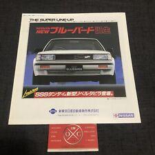 Vintage Nissan Bluebird Brochure JDM Rare 83-87 84 85 86 Datsun SSS Turbo Maxima