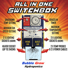 SMSCOM ALL IN ONE SWITCHBOX 4 X 600W LIGHT / HEATER / 2 X FAN CONTROLLER BOX