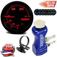 TurboSmart In-Cabin Boost Controller 0106-1001 BLUE + 52mm PSI Boost Gauge + Pod
