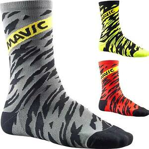Cycling Socks Calf Length 3 Pairs Set Bicycle Sport Compression Clothing Striped