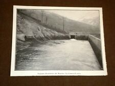 Impianto idroelettrico del Monviso nel 1923 La camera di carico