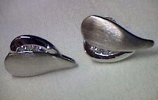 Ohrringe Ohrstecker in Silber 925 rhodiniert, Herz mit Zirkonia