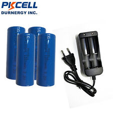 4X 3.2v IFR 18500 1200mAH LiFePO4 Rechargeable Batteries + Smart Battery Charger