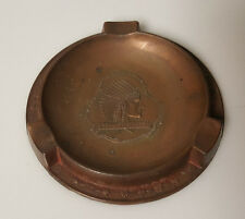 Vintage Ashtray Indian Head Bellefontaine Brass