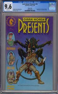 DARK HORSE PRESENTS #36 CGC 9.6 VARIANT COVER 1ST ALIENS VS PREDATOR WHITE PAGES