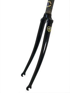 "SOMA : 1-1/8"" Sloping Crown Lugged Road Fork : Tange, 43mm rake for 49mm caliper"