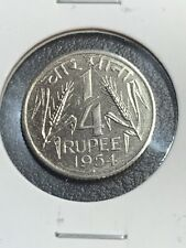 1954 India Republic 1/4 Rupee PROOF ULTRA RARE