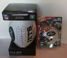 New York Jets NFL Autograph Football Full Size W/ Pen & UNO Limited Edition Game