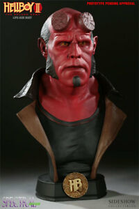 SIDESHOW HELLBOY 2 1:1 LIFE SIZE REPLICA BUST STATUE 86 of 500 NEW Ron Perlman