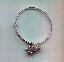 flower charm bracelet Alex & Ani silver