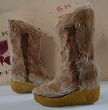 Fellstiefel Winterstiefel TRUE VINTAGE Boots Keil Yeti Boots Stiefel Fell wedges