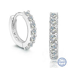 925 Sterling Silver earring CZ Cubic Zirconia clear crystal DLE52