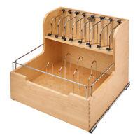 Rev-A-Shelf 4FSCO-24SC-1 Food Storage Container Organizer Soft Close, Natural