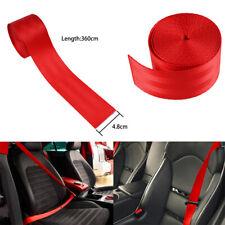 3.6M DIY Car Red Seat-Belt Nylon Polyester Webbing Safety Strap Auto Seat Lap