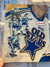 OLD VINTAGE LABATT'S NHL OLD STARS vs VANCOUVER CANUCKS PROGRAM - LINEUP SHEET