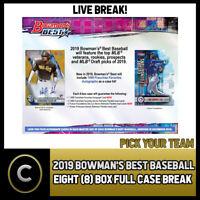"""2019 BOWMAN""""S BEST BASEBALL 8 BOX (FULL CASE) BREAK #A613 - PICK YOUR TEAM"""