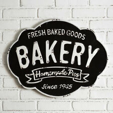 Bakery Fresh Baked Goods Homemade Pies EMbossed Rustic Metal Sign 23.5
