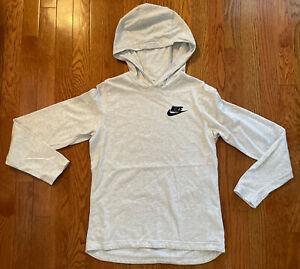 nike, boys size large, gray tshirt hoodie