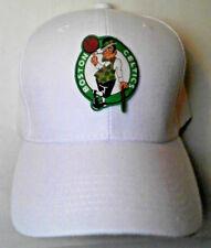 Boston Celtics Heat Applied Applique on Classic White cap hat! Adjustable!