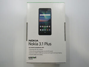 New Nokia 3.1 Plus TA1124 Blue Cricket 32GB Clean IMEI -BT7324 W