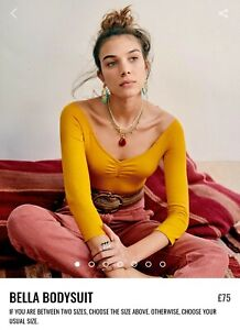 "Gorgeous Sezane ""Bella"" bodysuit is mustard yellow  size Small"