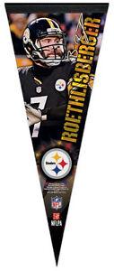 BEN ROETHLISBERGER Pittsburgh Steelers Signature Series Premium Felt PENNANT