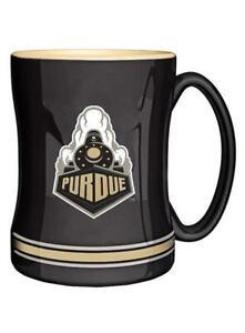 Purdue Boilermakers 14oz Sculpted Relief Coffee Mug NCAA