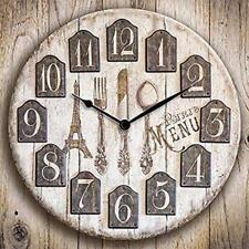 Orologio Da Per Parete Paris Parigi in legno 30x30 cm a Batteria Marrone
