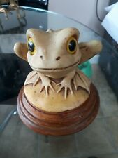 frog/toad made in Italy ,glass eyes ,signed G.P