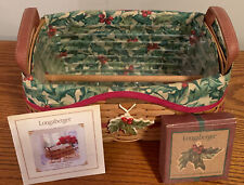 New ListingLongaberger 2002 Christmas Collection Red Traditions Basket Set