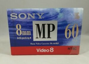 One (1) SONY Video 8 NTSC P6-120MP 8mm Camcorder New Metal MP - NEW SEALED
