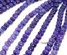 10MM PURPLE AGATE GEMSTONE PURPLE FACETED ROUND 10MM 9MM LOOSE BEADS 15""