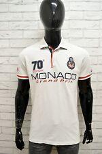 Polo MC GREGOR Uomo Taglia Size M Maglietta Camicia Shirt Man Cotone Bianco Slim