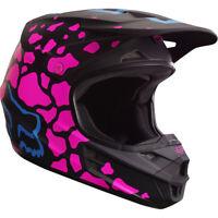 Fox V1 Grav Motocross Mx Casco - Negro/Rosa Enduro Moto MTB Bmx