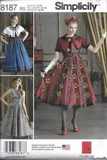 Simplicity 8187 Dress & Cropped Jacket Sewing Pattern Dr. Who Steampunk Tardis