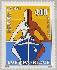 MALI 1977 600 288 EUROPAFRICA Issue Symbolic Ship White & Brown Persons MNH