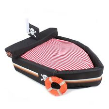 Brand New Soft Cozy Black Pirate Boat House Pet Bed for Dog Cat Puppy Kitty