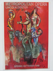 Marc Chagall Mini-Reprint  Poster To Dedicate Lincoln Center 16x11  1966 PP