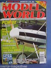 RCMW RC MODEL WORLD OCTOBER 2004 RUPERT PLANS PCM 9X ALBATROS D5 WREN WM44