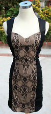 NWT HAILEY LOGAN $80 Black / Nude Party Dance Dress S
